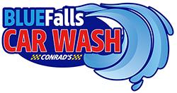 Blue Falls Car Wash by Conrad's Logo